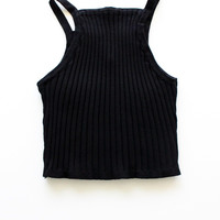 Knit Ribbed Crop Tank Top