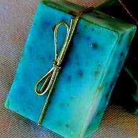 Peppermint with Spearmint Leaves Kinder Goat Milk Soap