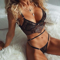 Sexy Lingerie Babydoll Womens Nightwear Underwear Sleepwear+G-string Set clothing set for sleeping