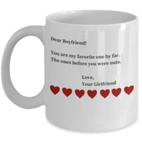 3 Year Anniversary Gifts For Boyfriend - Sarcastic Valentines Day Gifts For BF - Funny Coffe Cup Gift San Valentin to Make Him LOL for Hours