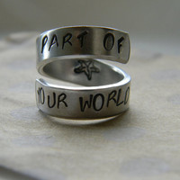 part of your world little mermaid inspired spiral aluminum ring