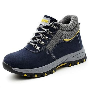 QUINLAN Design Men's Fashion Work & Safety Strong Protective Sneaker Boots