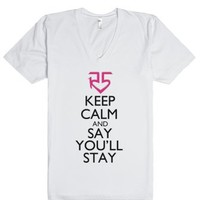 Say You'll Stay-Unisex White T-Shirt