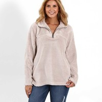Dylan Stadium Quarter Zip Pullover for Women Available in Two Colors 61W201OSH
