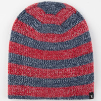 Hurley Finner Reversible Beanie Navy Combo One Size For Men 24563621101