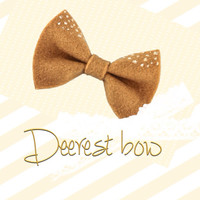 My Deerest Bow Fawn Inspired Hair Bow Colored Recycled Felt Hair Ribbon