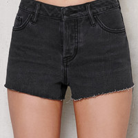 PacSun Brooklyn Black Mid Rise Cutoff Denim Shorts at PacSun.com