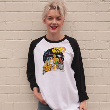 Vintage Style Star Wars Jersey/t-Shirt