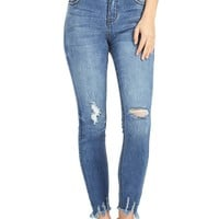Rebellion Ripped Ankle Jeans