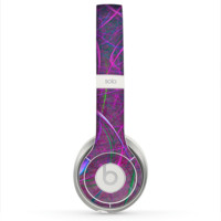 The Purple and Blue Electric Swirels Skin for the Beats by Dre Solo 2 Headphones