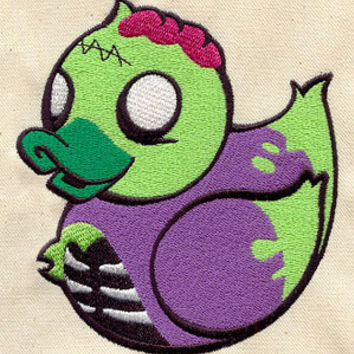 Zombie duck embroidered CHILDS Tee shirt by MorningTempest on Etsy