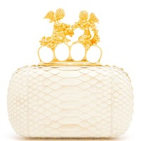 ALEXANDER MCQUEEN   Python Box Knuckle-duster Clutch   Browns fashion & designer clothes & clothing