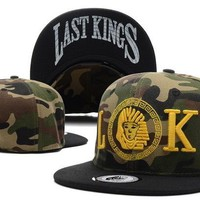 Perfect Last kings Snapback Camo hats Women Men Embroidery Sports Sun Hat Baseball Cap Hat