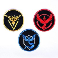 Pokémon GO Sew On Patch for Teams Valor, Mystic, or Instinct