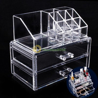 Acrylic Cosmetic Organizer Drawer Makeup Case Storage Insert Holder Box (Color: White) = 1697488900