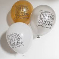 Cheers, Bitches Party Balloons