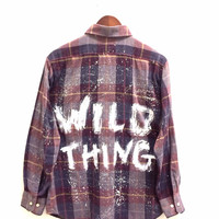 Wild Thing Shirt in Plaid, Painted + Hipster