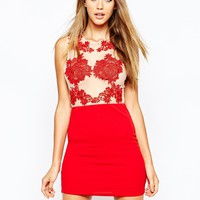 Missguided Floral detail Bodycon Dress