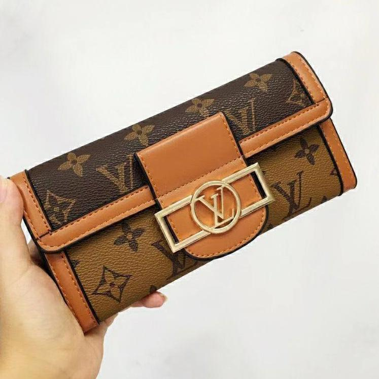 Image of Louis Vuitton Classic LV Letter Print Pattern Long and Short Handbags Coin Purses Fashion Men's and Women's Wallets Clutches