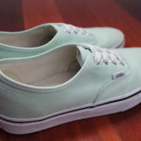 Vans Authentic Classic Mint Green Lace Up Sneakers