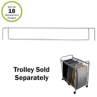 Evelots Trouser Trolley Pant Hanger W/ 18 Hangers-Extra Hangers Sold Separately