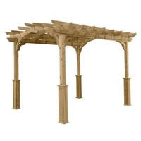 HomePlace Structures 8 ft. x 10 ft. Cedar Pergola-PA810 - The Home Depot