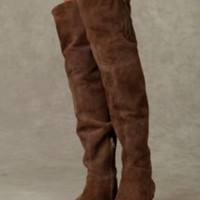 James Suede Over the Knee Boot with Zipper at Free People Clothing Boutique