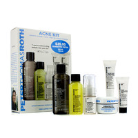 Peter Thomas Roth Acne Kit: Acne Wash+Acne Clearing Gel+Mattifying Gel+Buffing Beads+Therapeutic Sulfur Masque+Acne Spot Treatment - 6pcs