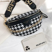 Women's Waist Bags Fashion Female Shoulder Bags Luxury Belt Messenger Bag Banana Waist Packs Retro Chest Bag