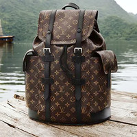 Free shipping-LV x Supreme co-branded backpack