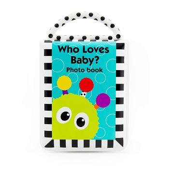 Sassy Developmental Look Book Photo Album  |  High Contrast Colors and Patterns  |  Drool Resistant Pages Hold Photos  |  Great Baby Shower Gift Original Version