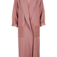 Contrast Panel Textured Duster Coat - Topshop