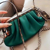 LV New fashion monogram print leather shoulder bag crossbody bag Green