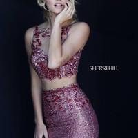 Sherri Hill 1950 Short Two Piece Beaded Homecoming Dress