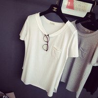 Single Chest Pocket Short Sleeves T-Shirt