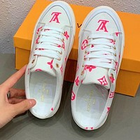 LV 2020 Early spring new product Spring Trunk show slippers Pink Letters