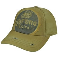 Corona Extra Beer Constructed Sun Buckle Hat Cap Mexican Mexico Distress Vintage