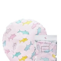 Shark Print Shower Cap