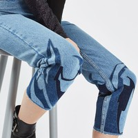 MOTO Abstract Hem Mom Jeans - New In This Week - New In