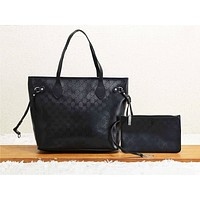 GUCCI hot seller casual lady shopping bag fashion printed patchwork two-piece shoulder bag #1