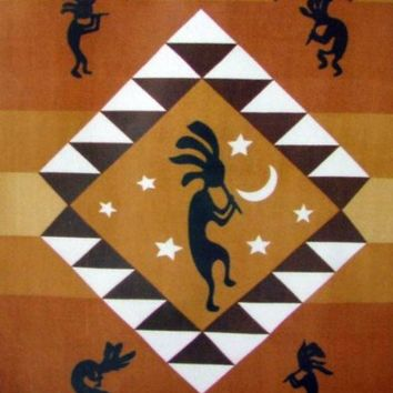 Kokopelli Polar Fleece Throw Blanket 50x60