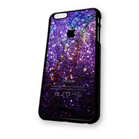 Violet Glitter Pattern Cracked iPhone 6 Plus case