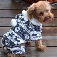 Quality first Pet Dog Warm Clothes Puppy Jumpsuit Hoodie Coat Doggy Apparel dog coat