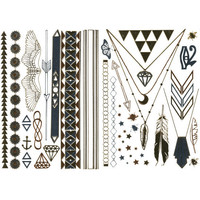 Metallic Temporary Tattoo Pack Multi One Size For Women 25297095701