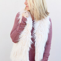 Dex Fur Vest {Cream}