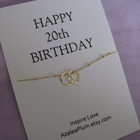 20th Birthday Necklace. Daughter 20th Birthday Gift. 2 Sisters Birthday Jewelry. Gift for her. Granddaughter 20th Birthday Necklace