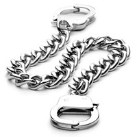 SPIKES 316L Stainless Steel Chain Handcuff Bracelet