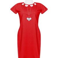 Red Chest Cutout Dress
