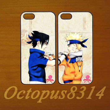 Naruto,Best friends,in pair two pcs,iphone 5S case,iphone 5C cover,iphone 5 case,iphone 4 case,ipod 4 case,ipod 5 case