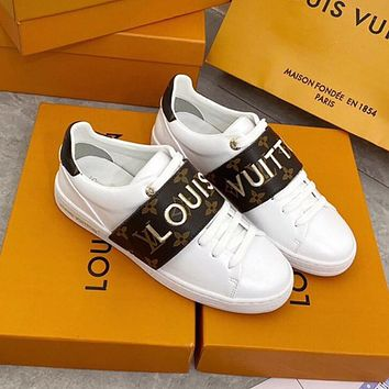 LV 2020 new Velcro embroidery low-top canvas sneakers shoes